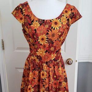 ModCloth x Retrolicious Autumn/Fall Floral Dress